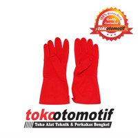 Sarung Tangan Karet Merah / Sarung Tangan Kimia / Industrial Gloves