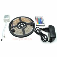 Lampu Tumblr Hias Led Strip RGB 3528 SMD Warna Warni 5 Meter Remot Set