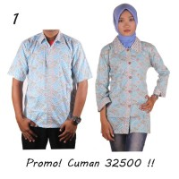 PROMO !! Sarimbit Batik Couple Warna Soft