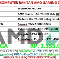 Komputer Rakitan AMD Gaming 2 Dual Core- WINDOWS 10