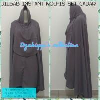 Jilbab instant wolfis set cadar /jilbab jumbo /bergo syari