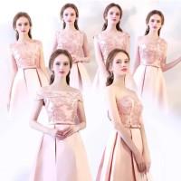 LDL 001 Gaun Pesta Midi Party Dress 3 Warna Import Size S to XXXL