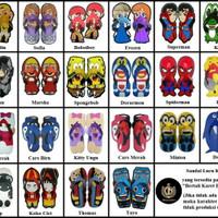 Size 21 Sandal Sancu Karakter / Sandal Lucu