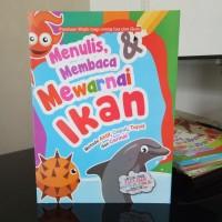 Buku Mewarnai Ikan dan Belajar Menulis