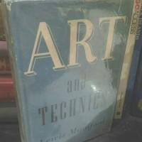 Buku Art and Technics by Lewis Mumford -ORI