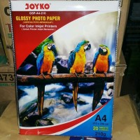 KERTAS FOTO 210 GRAM / GLOSY PAPER JOYKO 210 A4 20 LEMBAR (COVER BIRU)