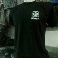 Baju Kaos Satpam Security Lengan Pendek