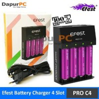Battery Charger 4 Slot for Li-ion - Efest Pro C4 EU Plu LARIS