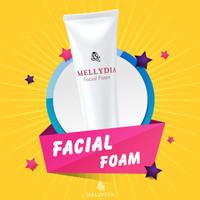 Facial Foam Scrub Mellydia Skincare Peeling Wajah BPOM Halal MUI