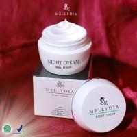 Pemutih Wajah Mellydia Skincare Night Cream Krim Malam Halal BPOM