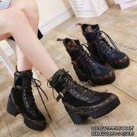 LOUIS VUITTON BOOT SHOES 2484-2||Sepatu Wanita Cantik|Sepatu Import Mu