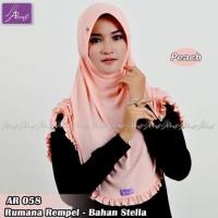 Jilbab instan Arrafi Rumana Rempel AR58 (warna Peach)/ Hijab/
