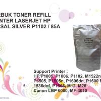 SERBUK TONER REFILL PRINTER LASERJET HP UNIVERSAL SILVER P1102 8