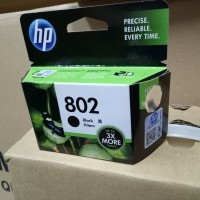 Tinta Printer HP 802 XL Hitam Original cpu top