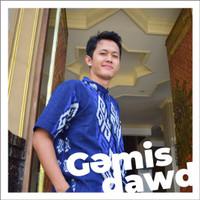 Harga baju muslim kemeja koko pria tenun etnik biru | Pembandingharga.com