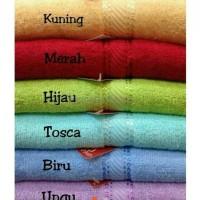 NEW HANDUK MERAH PUTIH 70X140 CM / HANDUK MANDI / HIGH QUALITY TOWEL
