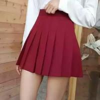 rok mini tenis warna polos