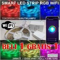 Lampu SMART LED Strip light RGB Wifi HUE Flexible Color Lamp warna