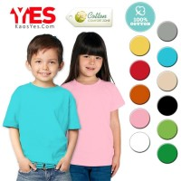 Hot List Kaosyes Kaos Polos T-Shirt Anak / Kids - Marun, Kid Nol Hot