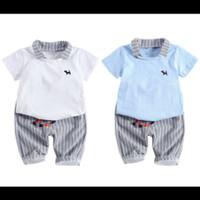 Setelan baju Anak laki laki polo shirt+Celana pendek katun import.