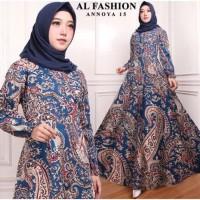 Maxi Anaya (15) Batik Baju Muslim Wanita Gamis Model Kekinian Terbaru