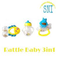 Baby Set Rattle 3in1 Icik Icik Bayi Mainan Bayi Edukatif