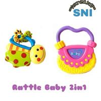 Baby Set Rattle 2in1 Icik Icik Bayi Mainan Gigitan Bayi Edukatif