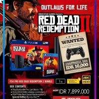 PS4 Pro 1TB Bundle Red Dead Redemption II Free 2 Stik Garansi Resmi