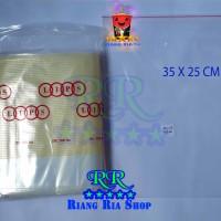 PLASTIK KLIP TEBAL 25 X 35 CM KEMASAN BUNGKUS BAJU @ 100 LBR