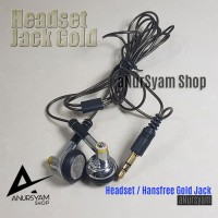 Hansfree Gold Jack / Headset Music / Earphone