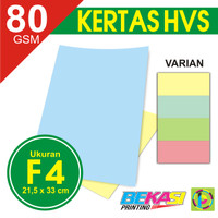 Kertas Print Fotocopy - HVS Warna F4 80 gram