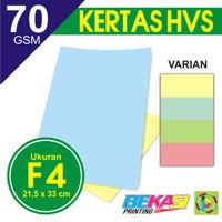 Kertas Print Fotocopy - HVS Warna F4 70 gram