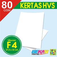 Kertas Print Fotocopy - HVS Putih F4 80 gram