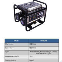 Genset bensin Excel mitsubishi 9500 watt