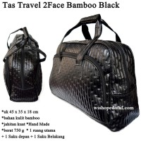 Tas Kulit Travel 2Face Bambo BLACK