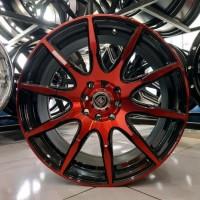 Velg Mobil Jari Jari Ring 17 Auto Speed 3785 Lobang Baut 4 Merah Hitam