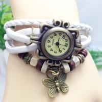Jam Tangan Wanita Style Vintage - putih