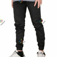 Celana Panjang Pria Jogger Chino Stretch Hitam Polos