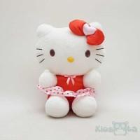 A65391 Boneka hello kitty baju merah rok polkadot putih original sanri 4b097ddc10