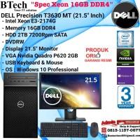 """DELL Precision T3630 MT Xeon E-2174G/16GB/2TB/VGA2GB/Win10Pro + 21.5"""""""