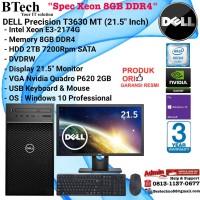 """DELL Precision T3630 MT Xeon E-2174G/8GB/2TB/VGA 2GB/Win10Pro + 21.5"""""""