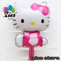 Balon foil hello kitty / balon foil karakter hello kitty pink mini