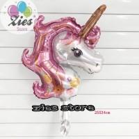 Balon foil unicorn / kuda unicorn / pegasus pink mini