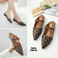 Mz Sandal Sepatu Wanita Flat Kulit Slip On Tali
