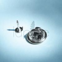Butterfly Clutch Tacks / Penjepit Tusuk Jarum Pin Back Set Silver