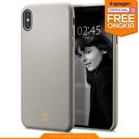 iPhone XS Max / XS / X / XR Case Spigen La Manon Calin Leather Casing