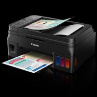 DISKON Printer Canon Pixma G4000 Wireless All In One w ADF Fax Limited