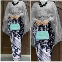 Stelan kebaya cape brokat rok lilit / BATIK / DRESS