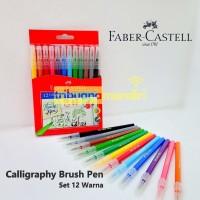 Faber Castell Calligraphy Brush Pen Set 12 ( Kuas-Kaligrafi-Lettering)
