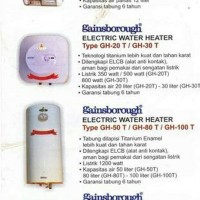 Gainsborough Water Heater Electric 20 Liter GH 20T